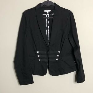 Cabi Black Twill Military Jacket size 14